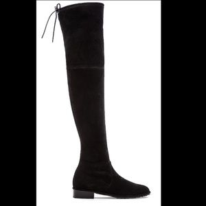 Stuart Weitzman Lowland Black Suede Boots Sz 36.5